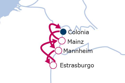 Itinerario de Mercadillos de Navidad en el Rhin