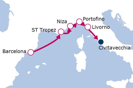 Itinerario de De Barcelona a Roma II