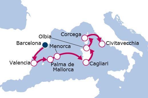 Itinerario de España, Italia