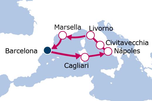 Itinerario de Italia y Francia
