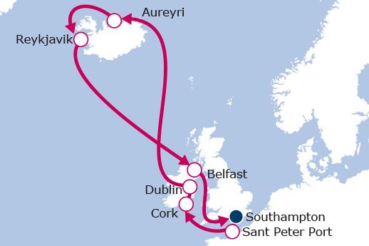 Itinerario de Islas Británicas e Islandia