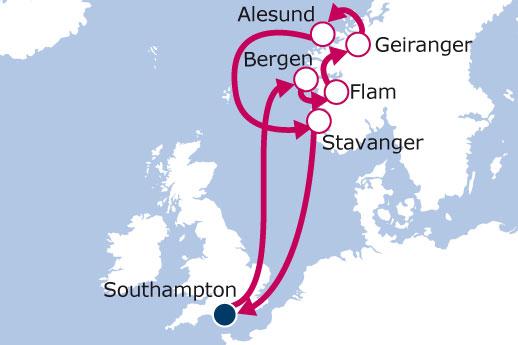 Itinerario de Fiordos Noruegos desde Londres