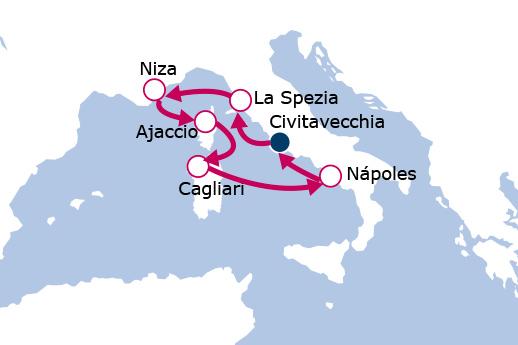 Itinerario de Italia y Francia con vuelos