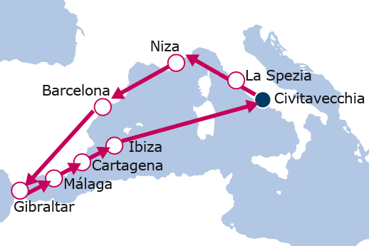 Itinerario de Mediterráneo Occidental IV