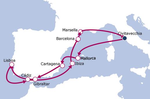 Itinerario de Mediterráneo Occidental III