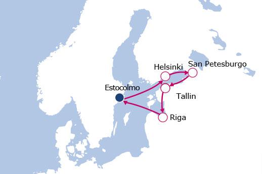 Itinerario de Capitales Bálticas desde Estocolmo