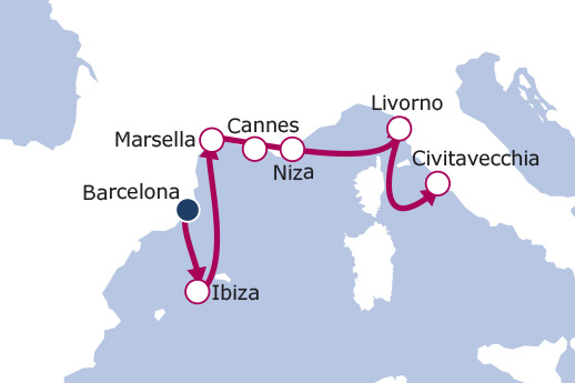 Itinerario de Mediterráneo Occidental II