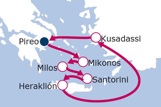 Itinerario de Grecia y Turquía