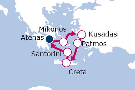 Itinerario de Egeo Icónico - 4 días