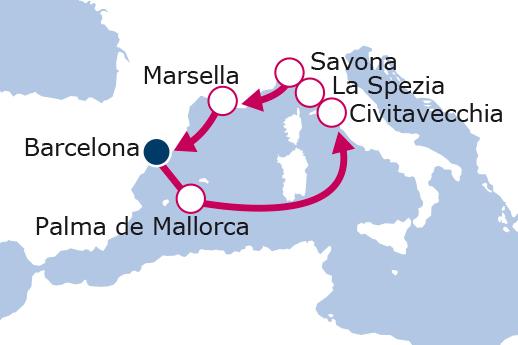 Itinerario de Maravilloso Mediterráneo II