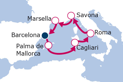 Itinerario de Maravilloso Mediterráneo