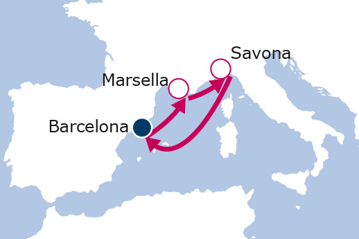 Itinerario de Francia e Italia