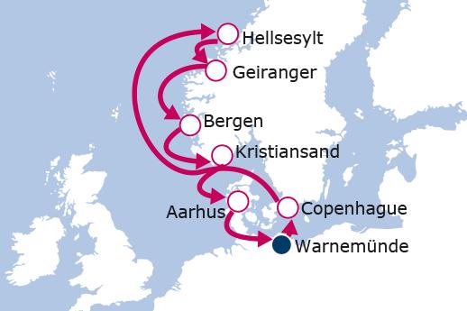 Itinerario de Fiordos Noruegos desde Alemania