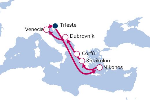 Itinerario de Grecia Clásica, Mar Jónico y Adriático