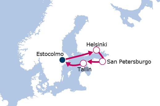 Itinerario de Joyas del Báltico con Vuelos Incluidos