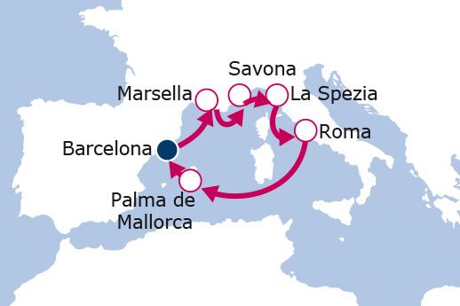 Itinerario de Francia, Italia, España