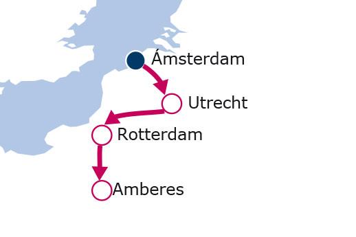 Itinerario de Feria de los tulipanes en Holanda