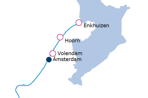 Itinerario de Crucero por los Países Bajos desde Amsterdam