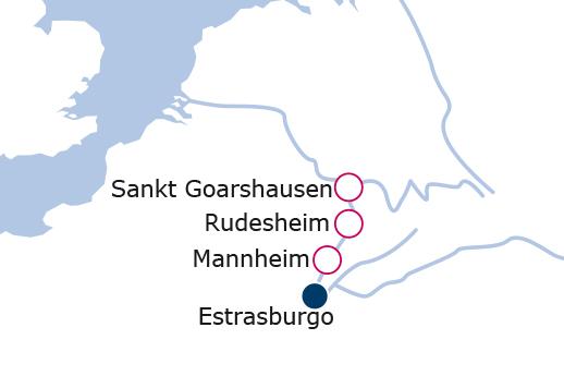 Itinerario de Año nuevo por el Rin Romántico y sus castillos