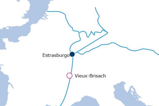 Itinerario de Año nuevo en el Rin