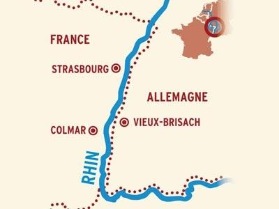 Itinerario de Mercados de Navidad Rin, Alsacia y Selva Negra