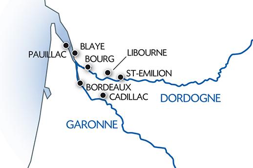 Itinerario de Aquitania y Burdeos
