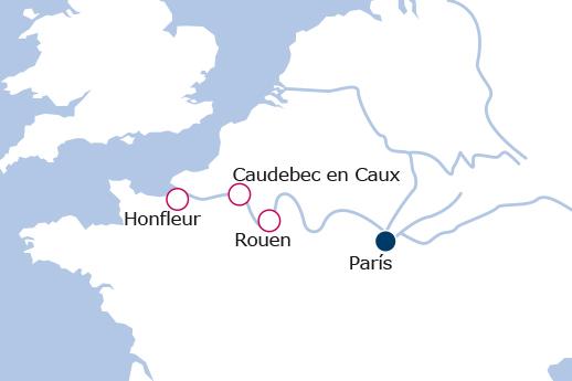Itinerario de Año Nuevo en París y el Valle del Sena
