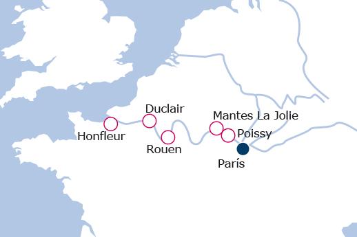 Itinerario de De Honfleur a París