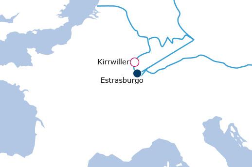 Itinerario de Mercados de Navidad Alsacia del Norte