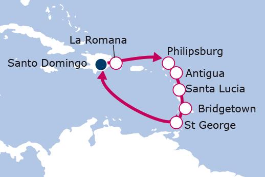 Itinerario de Islas del Caribe - Precio Exclusivo
