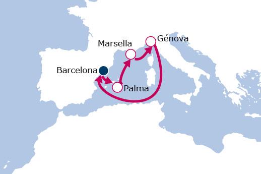 Itinerario de Minicrucero desde Barcelona III