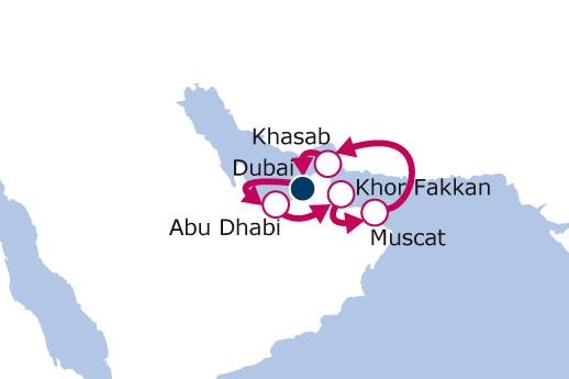Itinerario de Mar Arábigo con Vuelos Incluidos