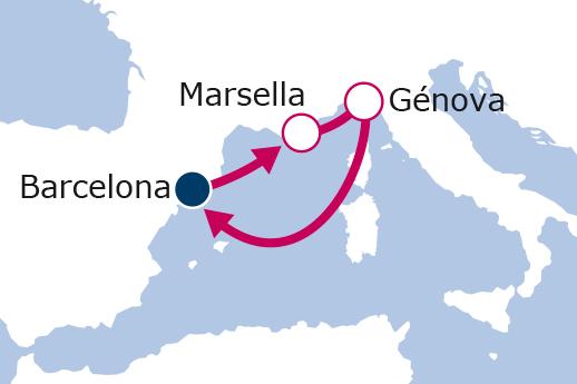 Itinerario de Minicrucero desde Barcelona II