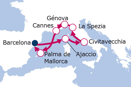 Itinerario de De la Croisette a los barrios romanos