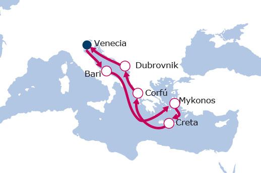 Itinerario de Italia, Grecia, Croacia II
