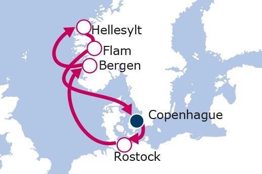 Itinerario de Fiordos Noruegos desde Copenhague