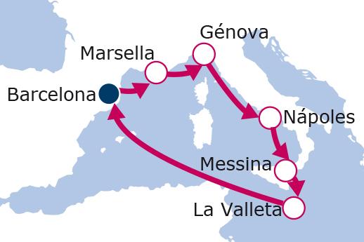 Itinerario de España, Francia, Italia, Malta