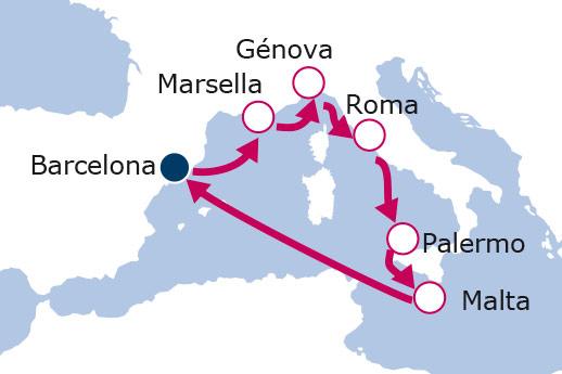 Itinerario de España, Francia, Italia, Malta II