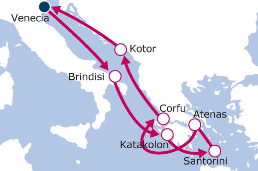 Itinerario de Explorando la antigua Grecia con Vuelos Incluidos