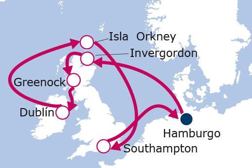 Itinerario de Escocia, Reino Unido e Irlanda
