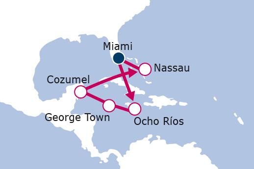 Itinerario de Crucero Caribe Cuatro joyas que explorar