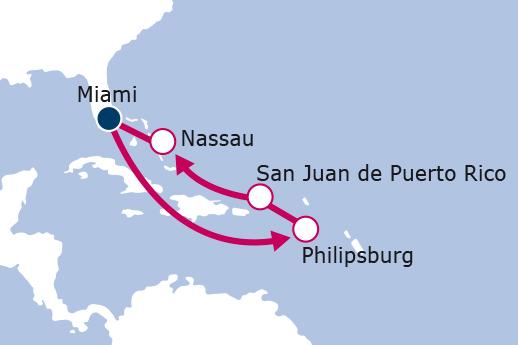 Itinerario de St Marten, Puerto Rico y Bahamas NUEVO MSC Seaside