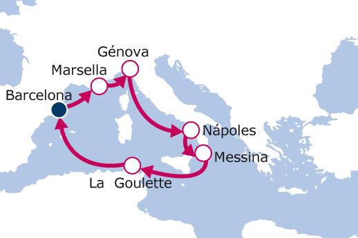 España, Italia, Francia