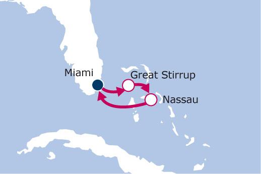 Itinerario de Minicrucero Bahamas