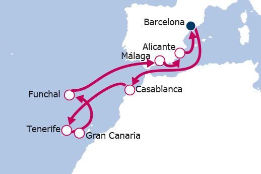 Itinerario de Puente Diciembre Marruecos, Canarias y Madeira