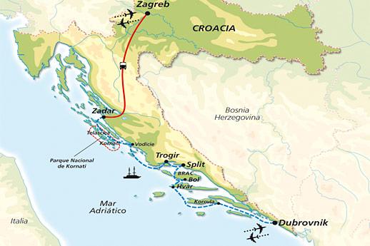 Itinerario de Minicrucero en Yate por las Islas Dálmatas
