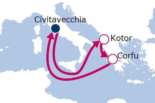 Itinerario de Eastern Med - Greek Isles