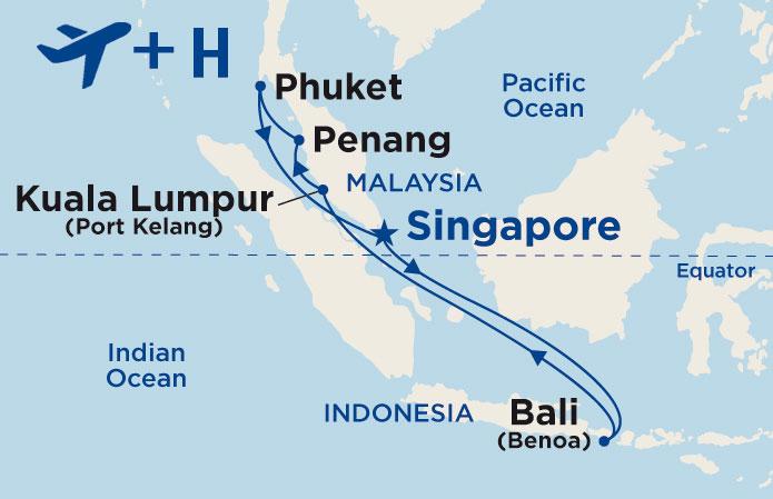 Itinerario de Asia desde Singapur