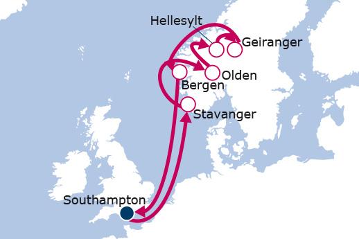 Itinerario de Europe - North Cape