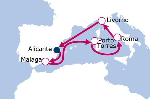 Itinerario de Leyendas del Mediterráneo 2017 desde Alicante
